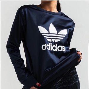 Adidas Trefoil Satin Sweatshirt